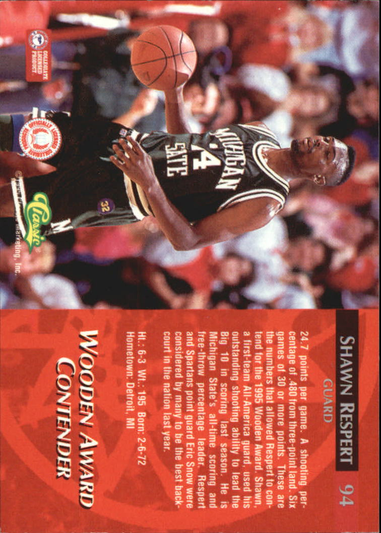 1995 Classic Printer's Proofs #96 Damon Stoudamire AW back image