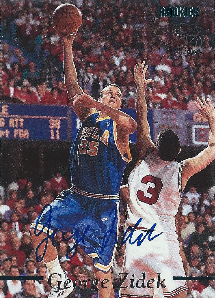 1995 Classic Autographs #20 George Zidek/2650