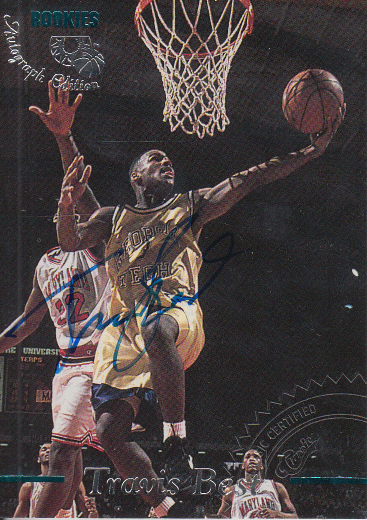 1995 Classic Autographs #21 Travis Best/1990