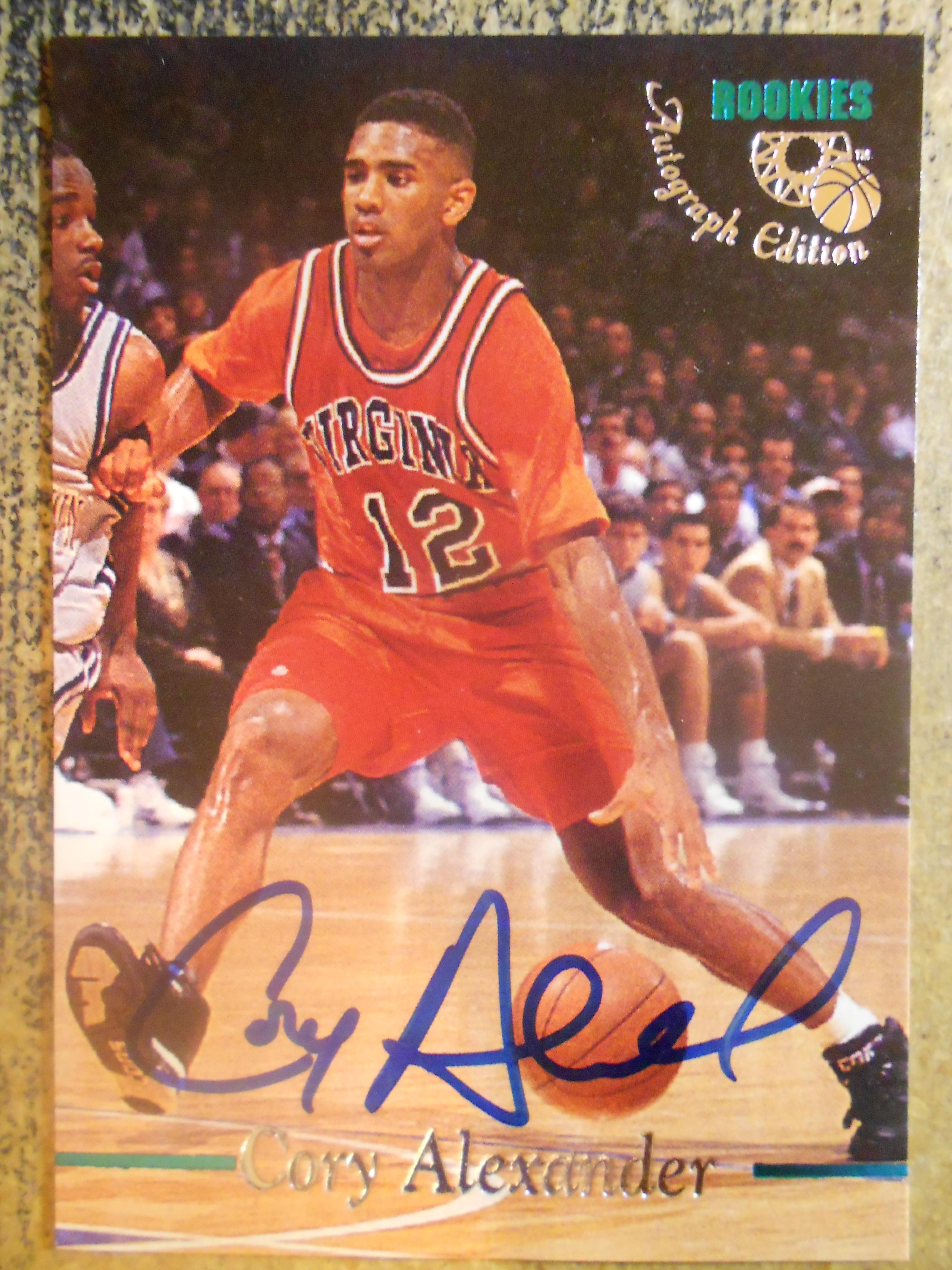 1995 Classic Autographs #27 Cory Alexander/3335