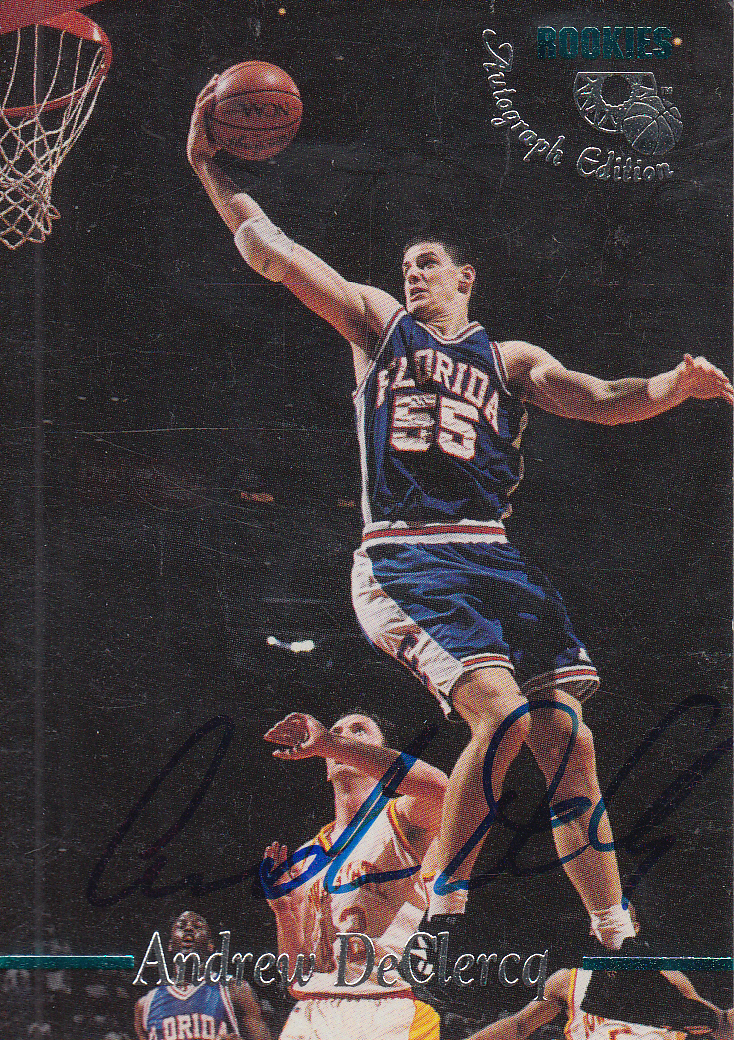 1995 Classic Autographs #32 Andrew DeClercq/4080