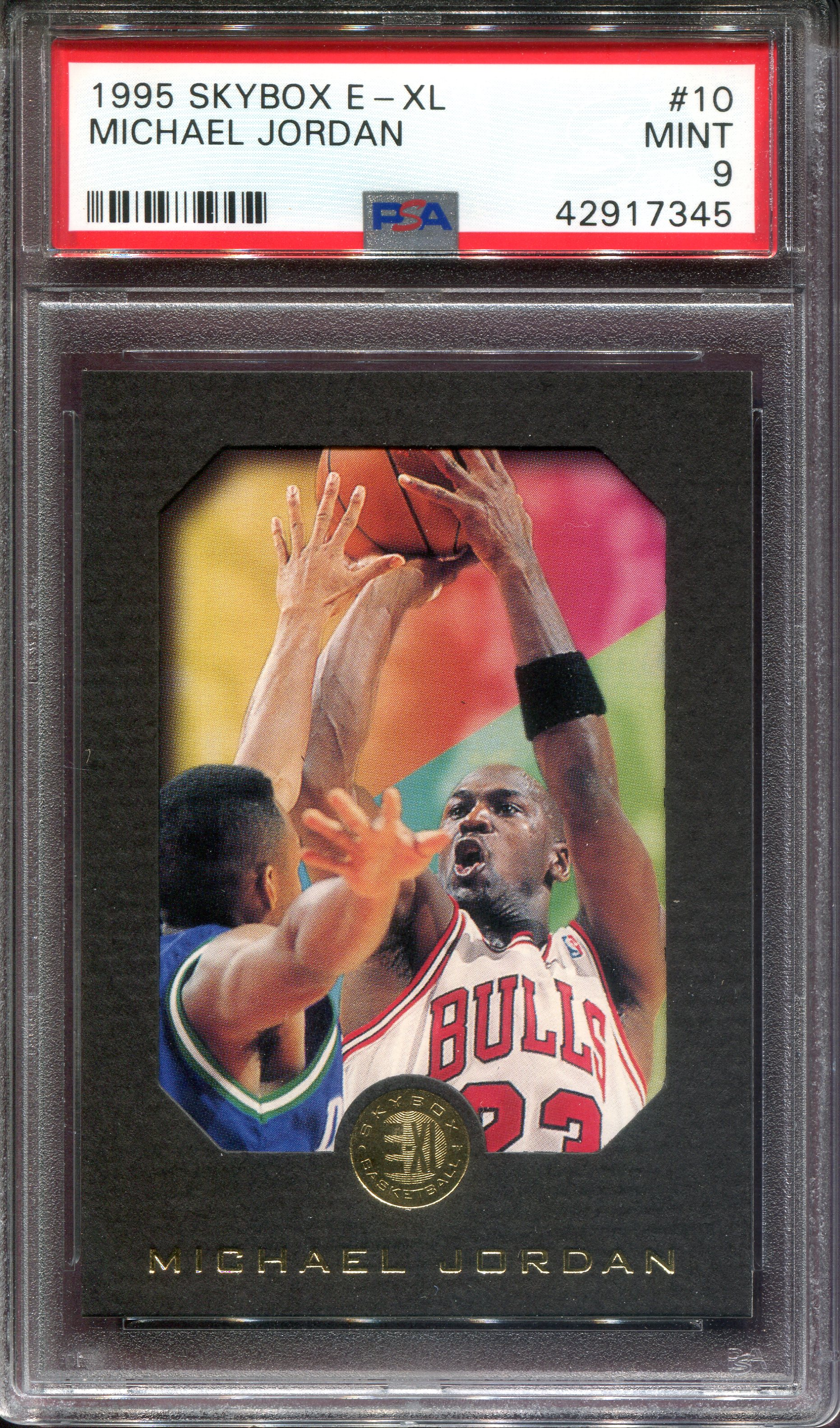 1995-96 E-XL #10 Michael Jordan