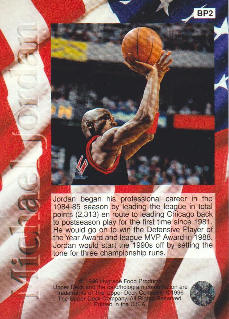 1995-96 Upper Deck Ball Park Jordan #BP2 Michael Jordan