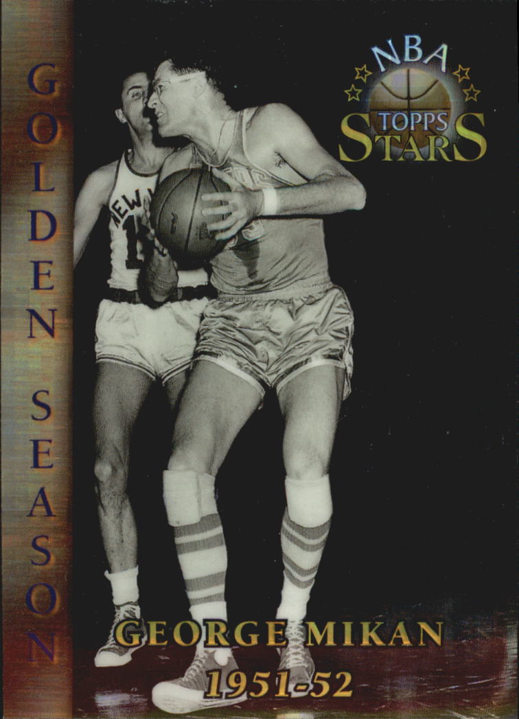 1996 Topps Stars Finest Atomic Refractors #80 George Mikan GS