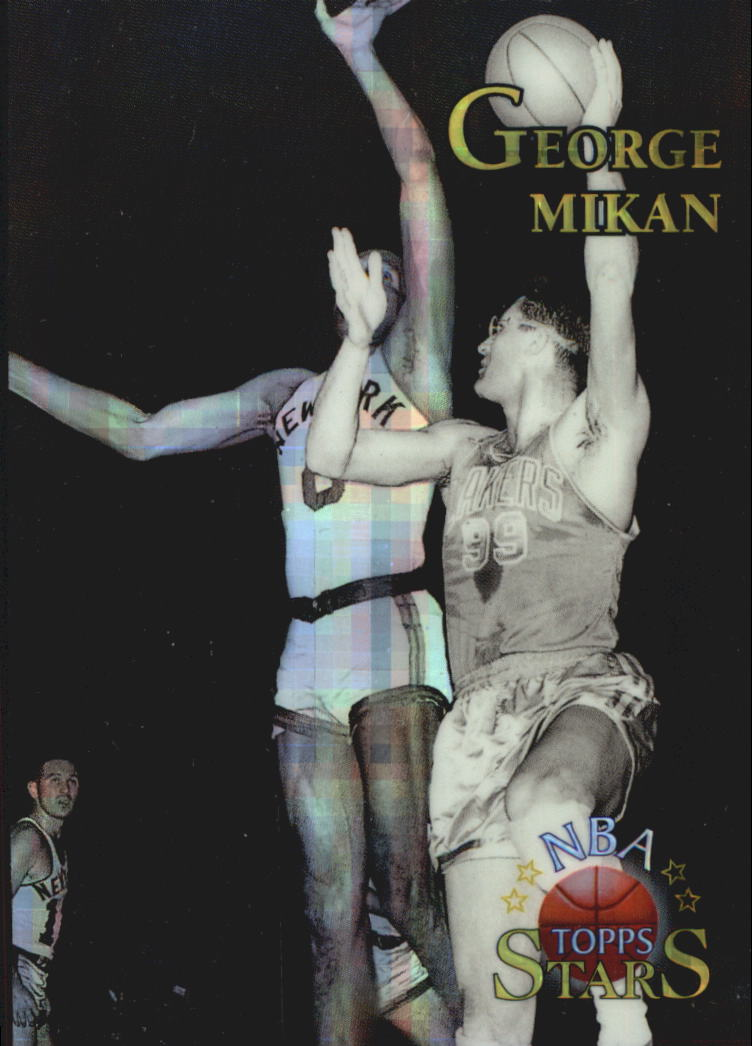 1996 Topps Stars Finest Atomic Refractors #130 George Mikan