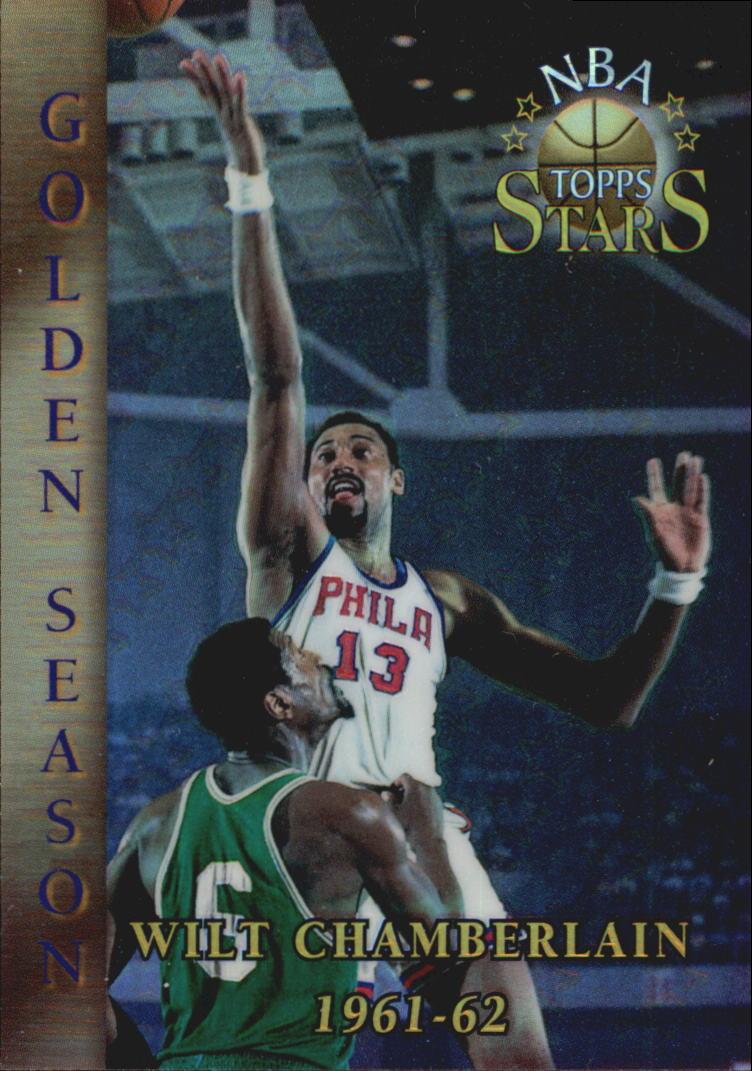 1996 Topps Stars Finest Refractors #59 Wilt Chamberlain GS