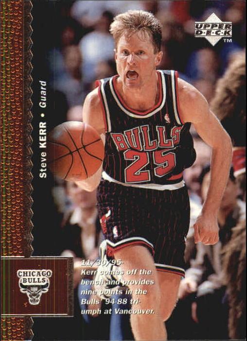 cdd2913e6 1996-97 Upper Deck Chicago Bulls Basketball Card  195 Steve Kerr