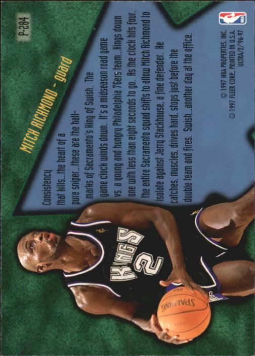 1996-97 Ultra Platinum Medallion #P284 Mitch Richmond SU back image