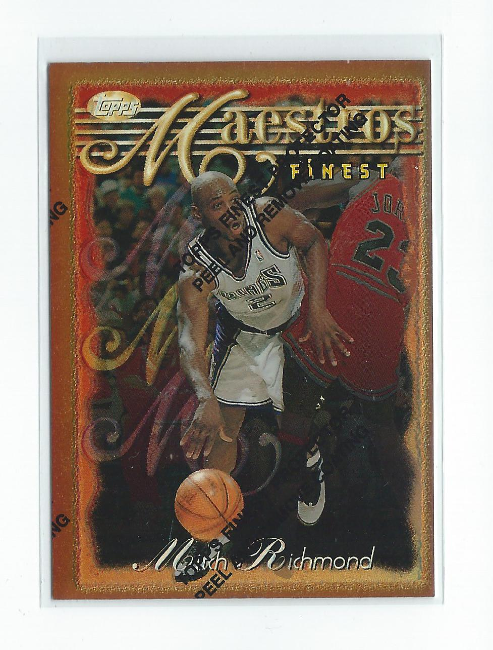 87e222007757 1996-97 Finest Refractor  91 Mitch Richmond Kings