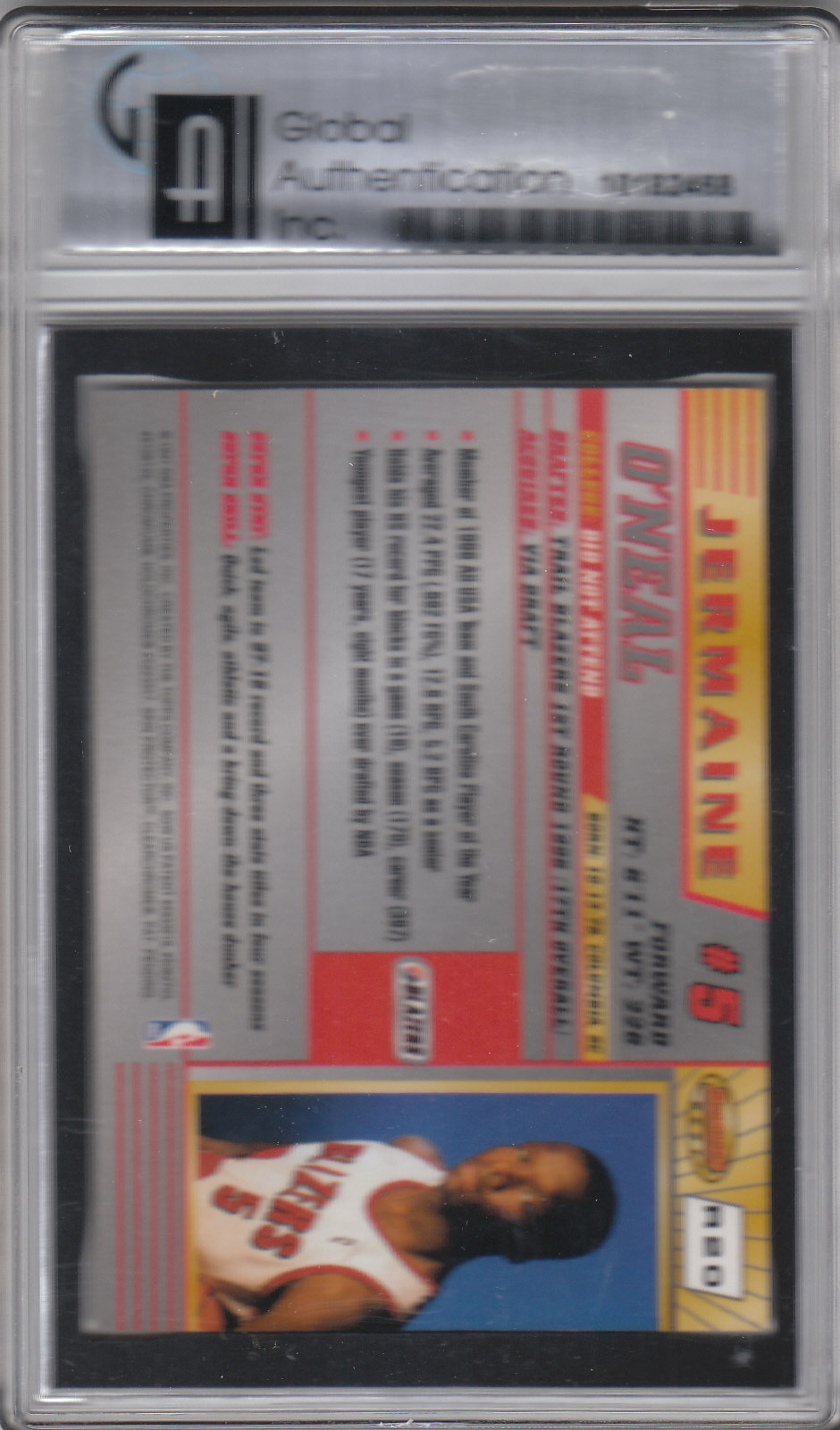 1996-97 Bowman's Best #R20 Jermaine O'Neal RC back image