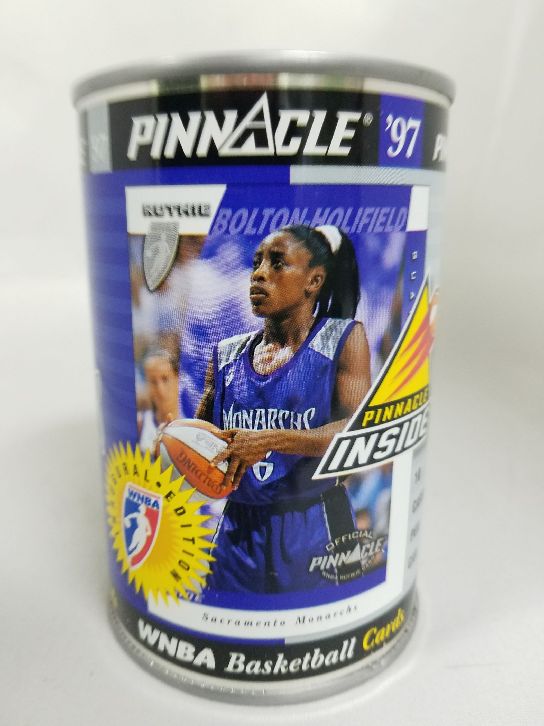 1997 Pinnacle Inside WNBA Cans #14 Ruthie Bolton-Holifield