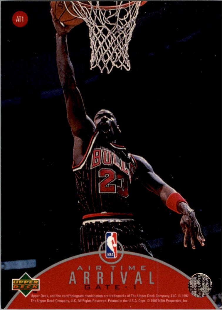 1997-98 Upper Deck Jordan Air Time #AT1 Michael Jordan back image
