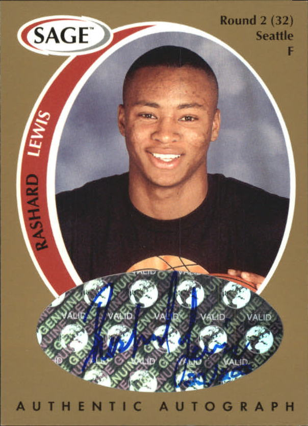 1998 SAGE Autographs Gold #A23 Rashard Lewis/200