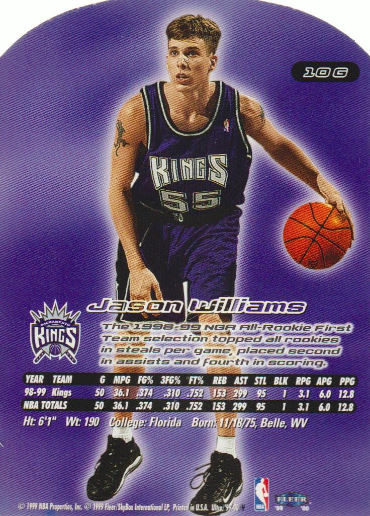 1999-00 Ultra Gold Medallion #10 Jason Williams back image