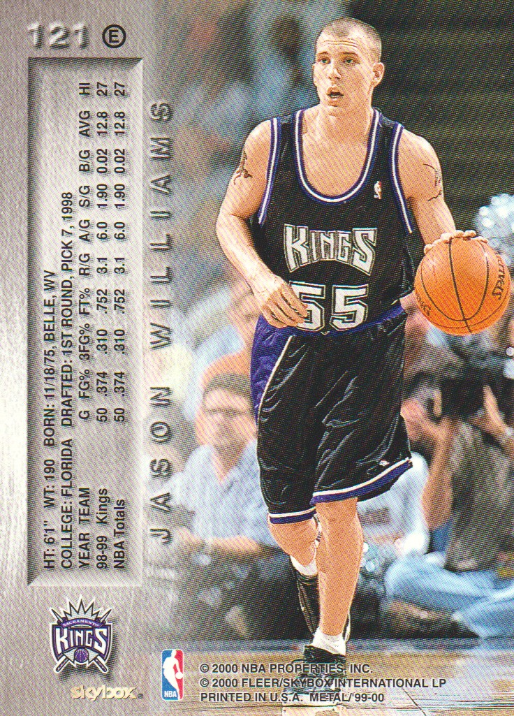 1999-00 Metal Emeralds #121 Jason Williams back image