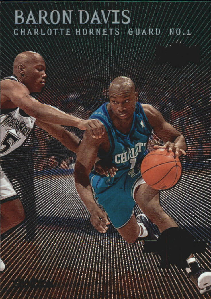 2c8bdebf2c5 1999-00 Metal Emeralds Charlotte Hornets Basketball Card #166 Baron Davis