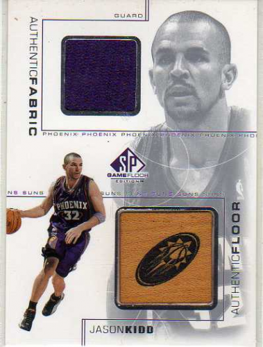2000-01 SP Game Floor Authentic Fabric/Floor Combos #JKC Jason Kidd