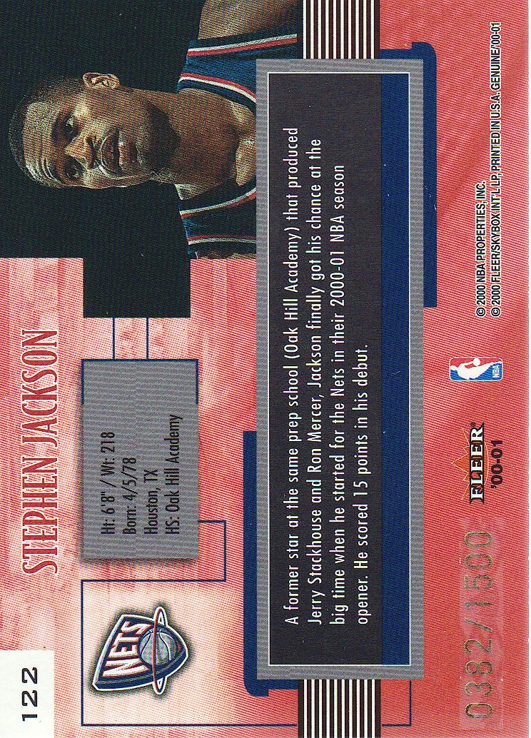 2000-01-Fleer-Genuine-Basketball-Cards-Pick-From-List thumbnail 43