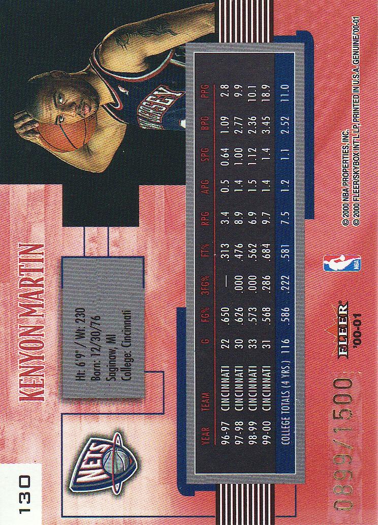 2000-01-Fleer-Genuine-Basketball-Cards-Pick-From-List thumbnail 49
