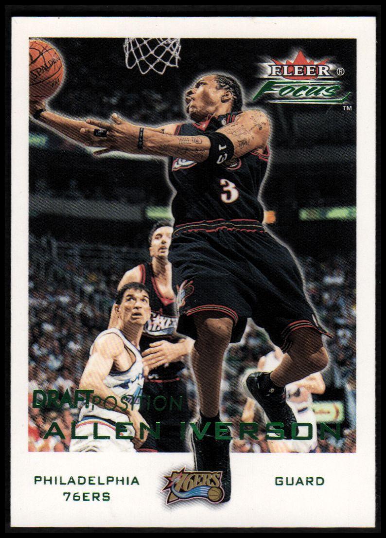 2000-01 Fleer Focus Draft Position #159 Allen Iverson/100