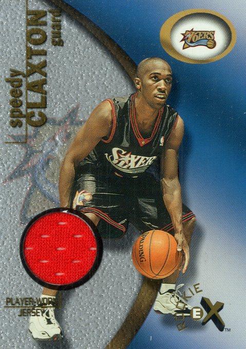2000-01 E-X Rookie Memorabilia #109 Speedy Claxton JSY/275