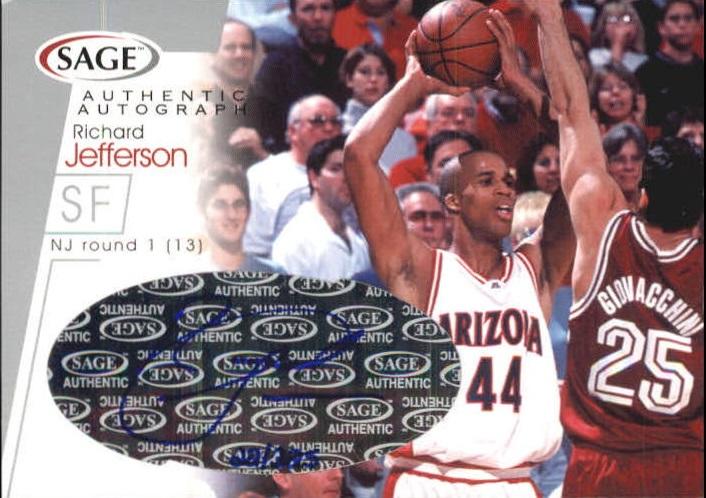2001 SAGE Autographs Silver #A22 Richard Jefferson/325