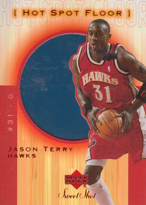 2001-02 Sweet Shot Hot Spot Floor #JTF Jason Terry