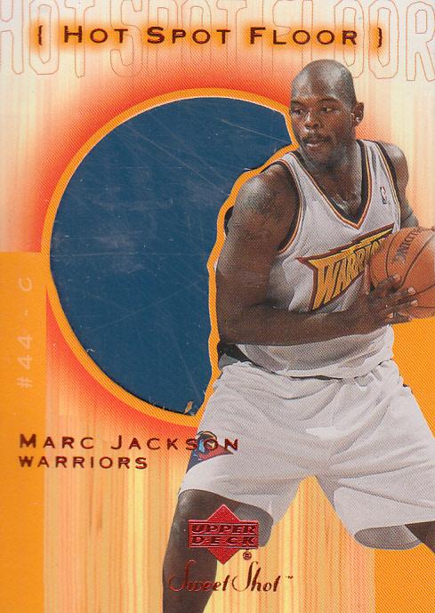 2001-02 Sweet Shot Hot Spot Floor #MAF Marc Jackson