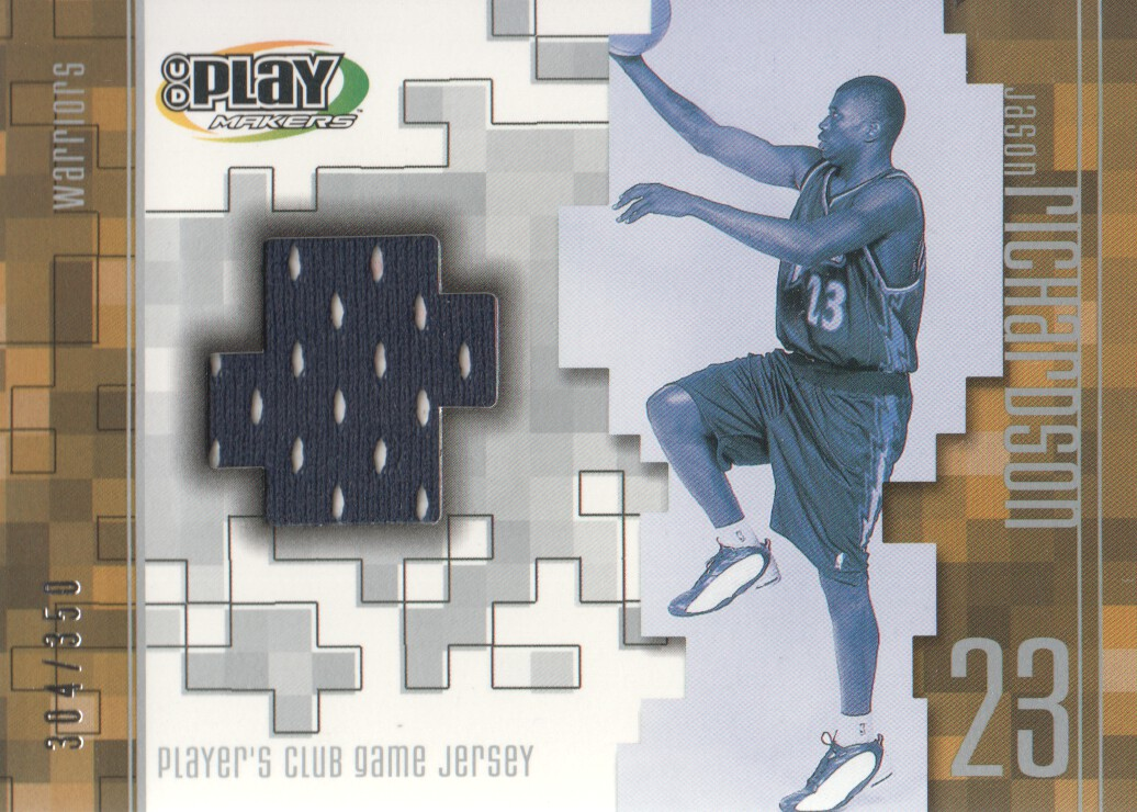 2001-02 Upper Deck Playmakers PC Game Jersey #JRJ Jason Richardson