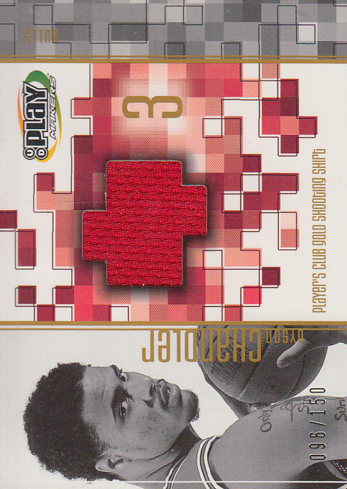 2001-02 Upper Deck Playmakers PC Shooting Shirt Gold #TCGS Tyson Chandler