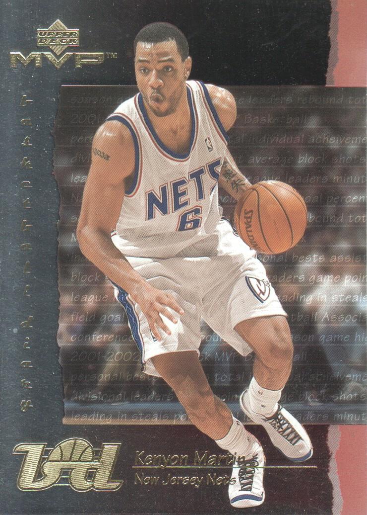 2001-02 Upper Deck MVP Basketball Diary  BD12 Kenyon Martin New Jersey Nets a05c21e91