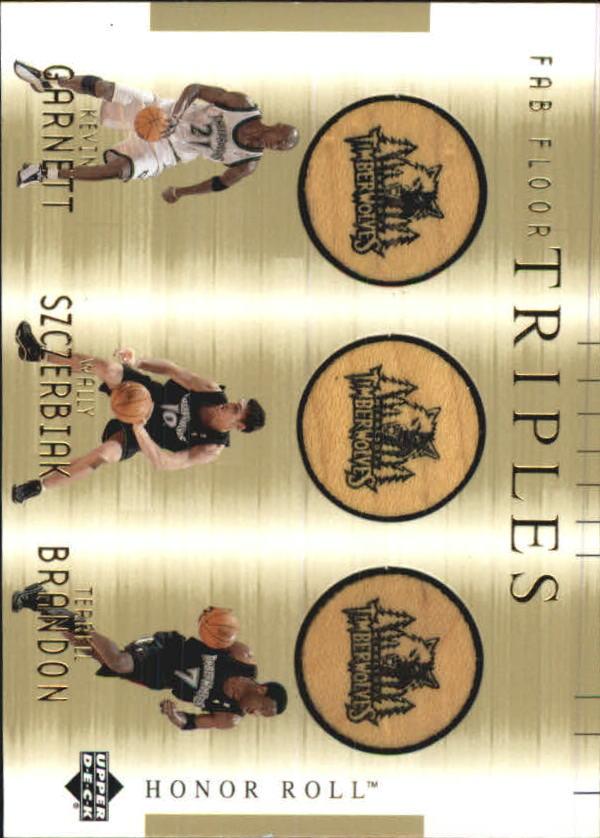 2001-02 Upper Deck Honor Roll Fab Floor Triples #3 Kevin Garnett/Wally Szczerbiak/Terrell Brandon