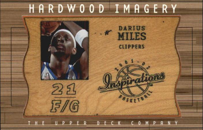 2001-02 Upper Deck Inspirations Hardwood Imagery #DM Darius Miles