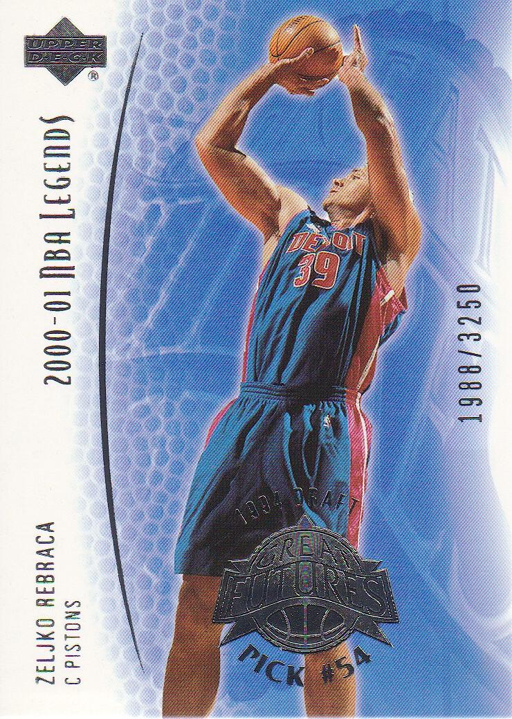 2001-02 Upper Deck Legends #95 Zeljko Rebraca RC