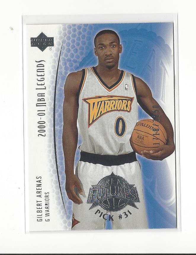 12391592caa4 2001-02 Upper Deck Legends  102 Gilbert Arenas Rookie Warriors  3250 ...