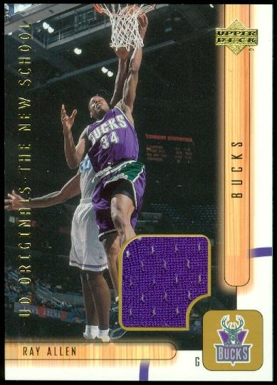 2001-02 Upper Deck UD Originals Jerseys #RAO Ray Allen