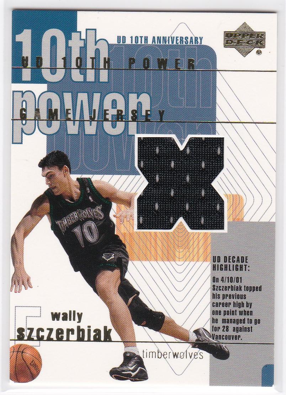 2001-02 Upper Deck 10th Power Game Jerseys #WSX Wally Szczerbiak