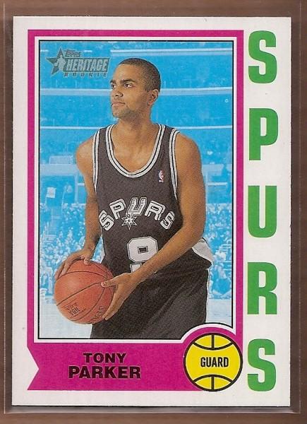 2001-02 Topps Heritage #205 Tony Parker RC
