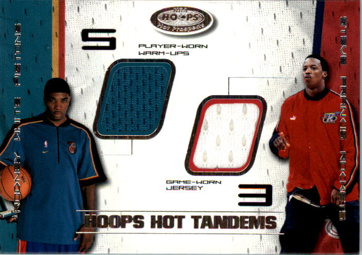 2001-02 Hoops Hot Prospects Hot Tandems #8 Rodney White/Steve Francis
