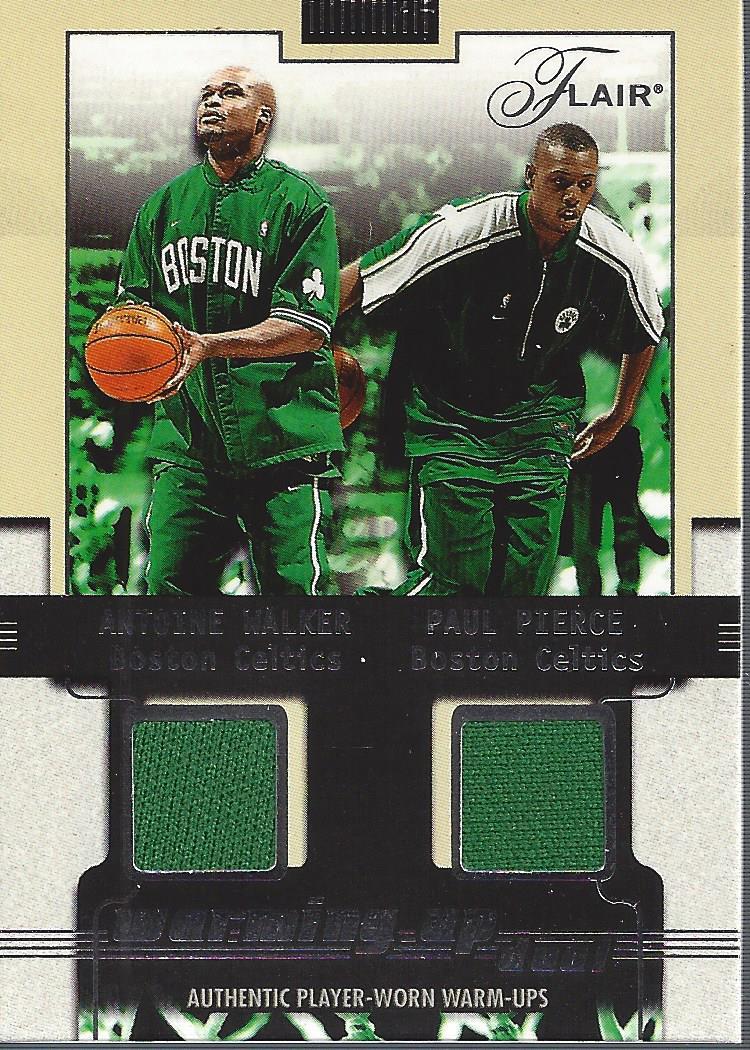 2001-02 Flair Warming Up Dual #2 Antoine Walker/Paul Pierce