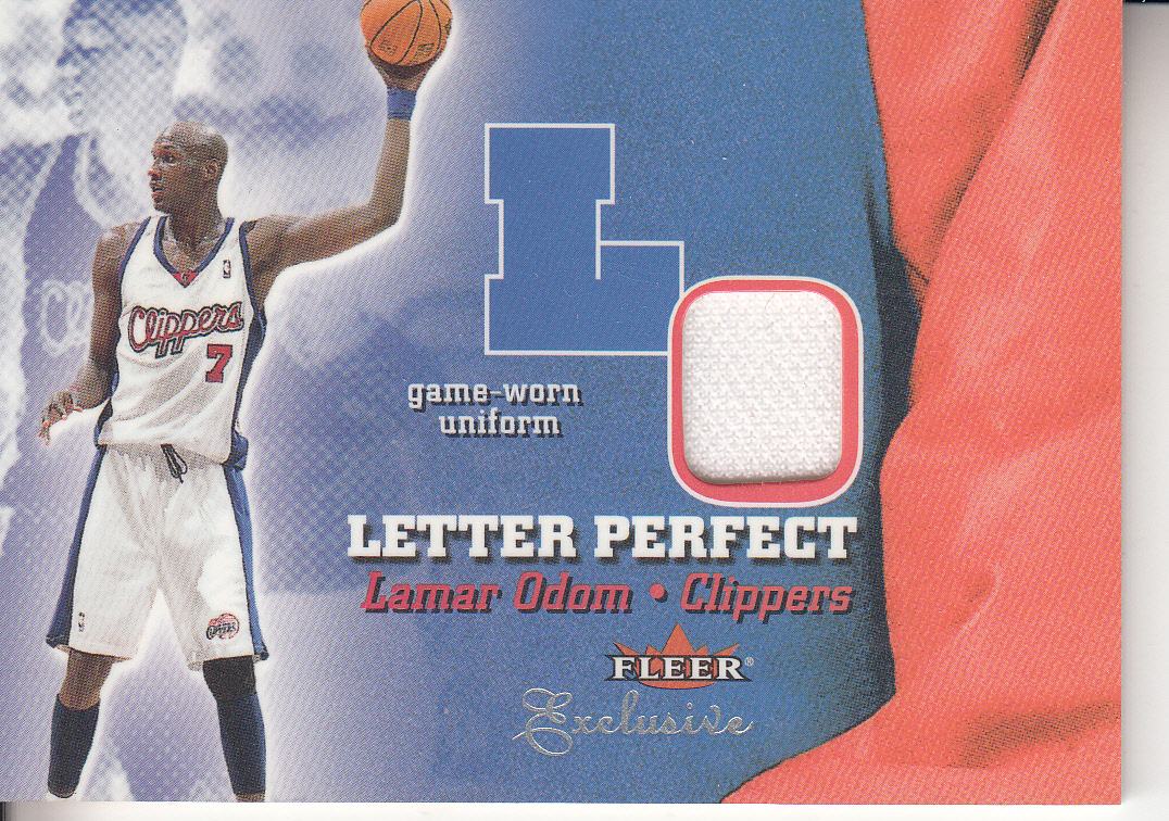 2001-02 Fleer Exclusive Letter Perfect JV #9 Lamar Odom