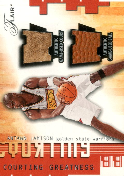 2001-02 Flair Courting Greatness Ball and Court #6 Antawn Jamison