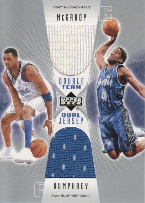 2002-03 Upper Deck Double Team Dual Jerseys #TMRHD Tracy McGrady/Ryan Humphrey