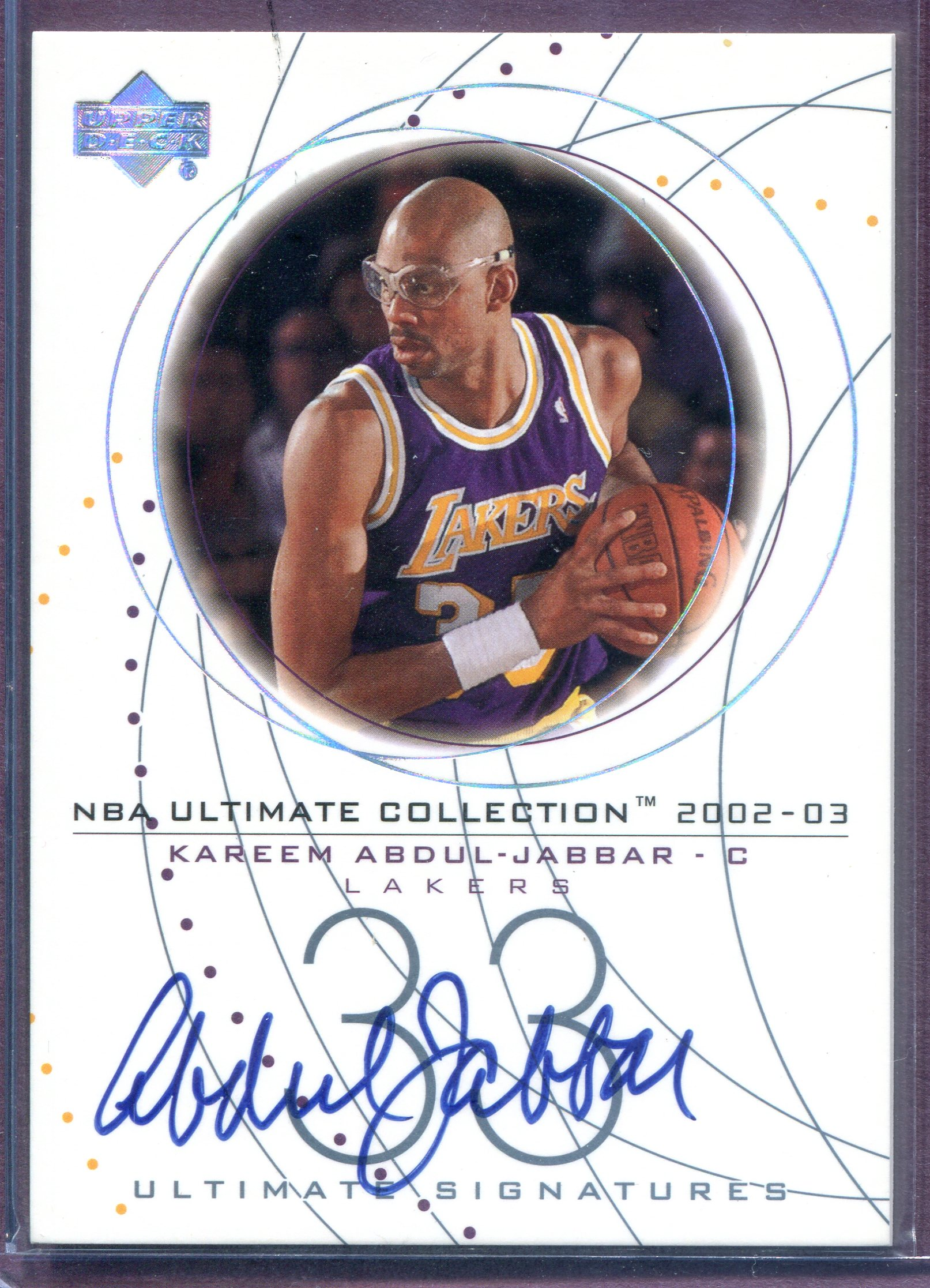 2002-03 Ultimate Collection Signatures #KAS Kareem Abdul-Jabbar