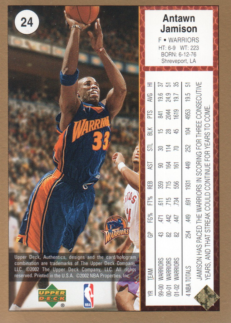 2002-03-UD-Authentics-Gold-Basketball-Cards-Pick-From-List thumbnail 5