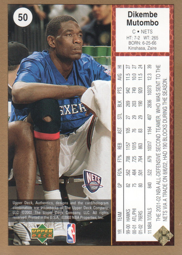 2002-03-UD-Authentics-Gold-Basketball-Cards-Pick-From-List thumbnail 7