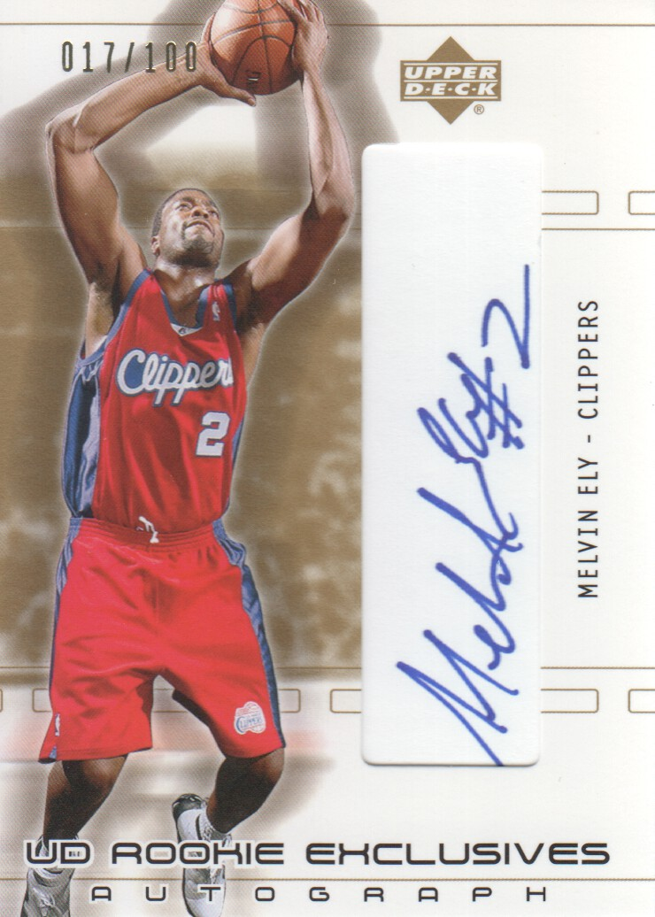2002-03 SP Game Used UD Rookie Exclusive Autographs #RKEL Melvin Ely