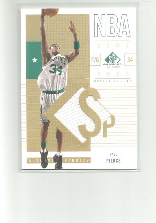 2002-03 SP Game Used #5 Paul Pierce SP JSY