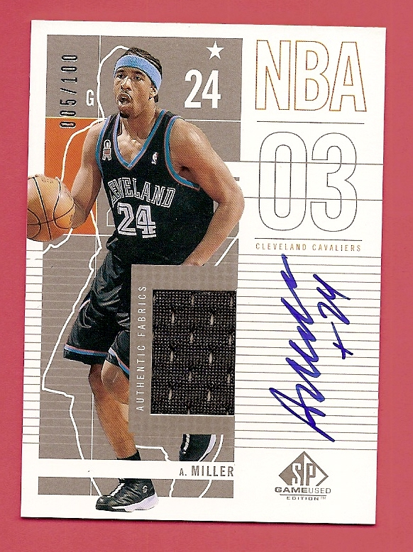 2002-03 SP Game Used Autographed Jerseys #16 Andre Miller