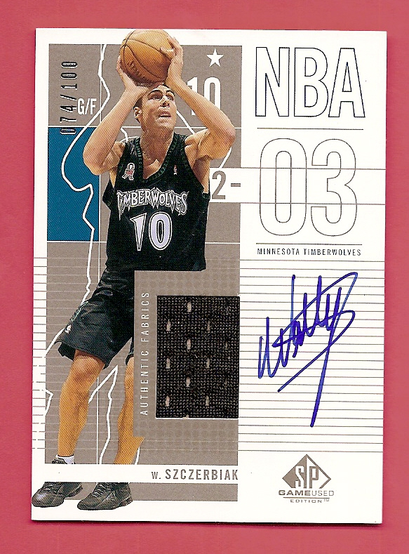 2002-03 SP Game Used Autographed Jerseys #57 Wally Szczerbiak